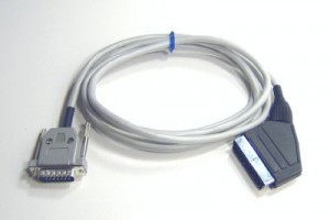 Tthe 1.5m SCART to IIGS video cable. (Photo copied from Vintageware website without permission. Lemme know if you want it removed.)